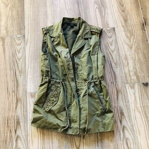 Forever 21 army green vest